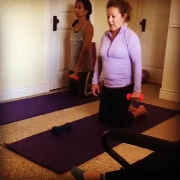 Let's get it on! #shoulders #deltoids #arms #weights #pilates #gracefulpilates #livermore