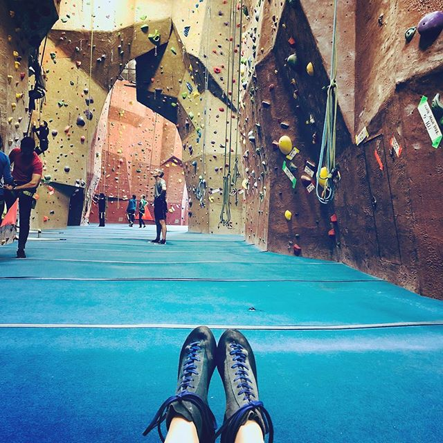 My shoes!! It feels so yummy for this #pilatesgirl to be back in her #climbingshoes !  They still fit like a 🧤 glove (meaning painfully tight).This IS happening with twins in tow! How did you get your workout in today? #rockclimbing #rockclimber #climbing #climb #climbinggym @thepeakoffremont #thepeakoffremont #forearmworkout #forearmfriday #forearmworkout #rockclimbingshoes #rockclimbing