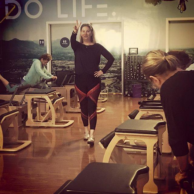 This is how I work it! #Pilates #instructorlife #joinus @clubpilates_pleasanton #gracefulpilates