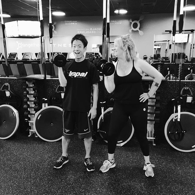 Me and my very special Japanese son @nknksk_0725  had a ball at @Orangetheory #orangetheorylivermore #getinshape #havefun #exercise #host #hostson #foreignexchangestudent #workinit #Gracefulpilates